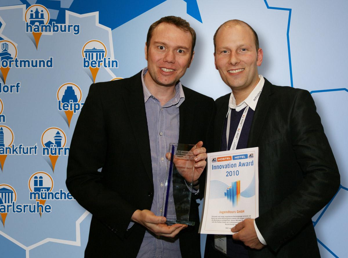 Jugendtours von A&O Hotels und Hostels AG mit Innovation Award 2010 ausgezeichnet