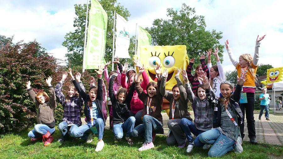 SpongeBob auf dem SpongeBob-Camp von Jugendtours und NICK.tv