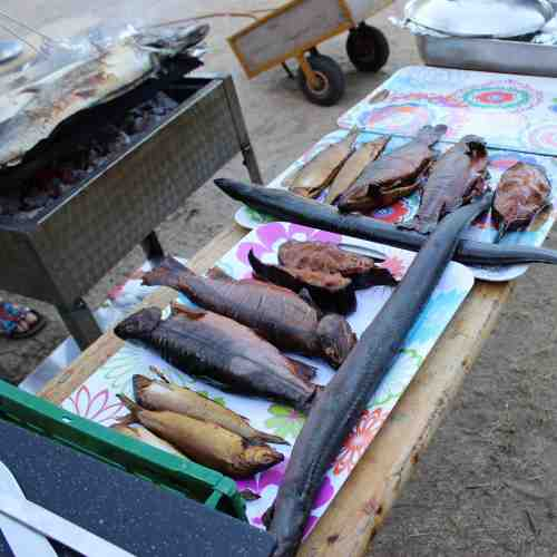 Angelcamp - Grillen und großes Fischessen am letzten Tag